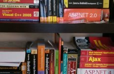 One of my bookshelves with programming books